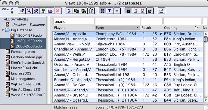 ExaChess Database